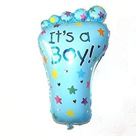 "It's a Boy Foot Shape Balloon, 32"" (#264)"
