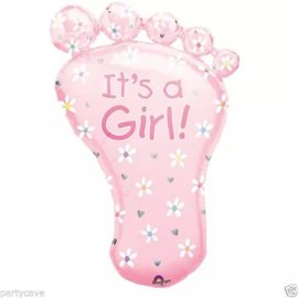 "It's a Girl Foot Shape Balloon, 32"" (#265)"