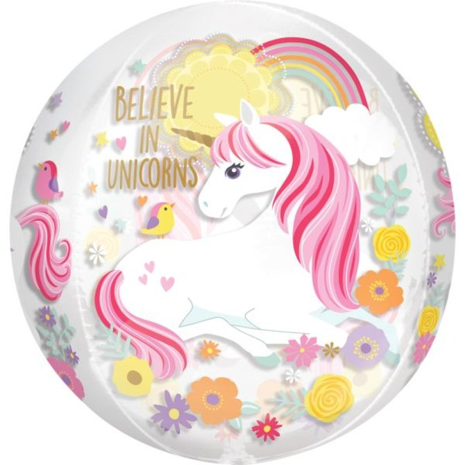 "Magical Unicorn Orbz Balloon, 15"""