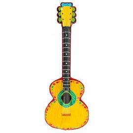 Inflatable Mariachi Guitar (13in x 38in Vinyl Prop)