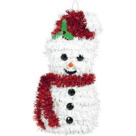 "3-D Snowman Hanging Tinsel Decoration 6 1/2"" x 3 1/2"""