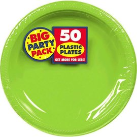 "Kiwi Big Party Pack Plastic Plates, 10 1/4"" 50ct"
