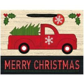 Vintage Christmas Medium Horizontal Bag w/ Gift Tag