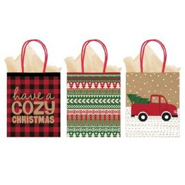 Cozy Christmas Large Vertical Bags - Multi-Pack 3ct