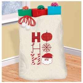 Ho Ho Ho Canvas Giant Gift Sack