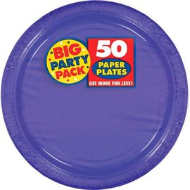 New Purple Big Party Pack Paper Plates, 9""