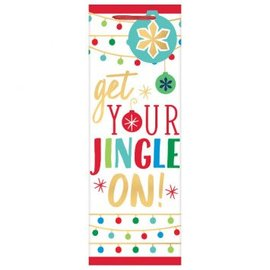 Jingle On Bottle Bag w/ gift tag