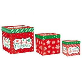 Modern Christmas Assorted Pop Up Gift Boxes 3ct