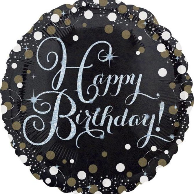 "Sparkling Birthday Balloon, 18"""