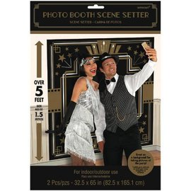 "Glitz & Glam Photo Booth Scene Setter®s          Contains: 2 Plastic Pieces: 65"" x 32 1/2"" Combined to 65"" x 65"" 2 in a package"