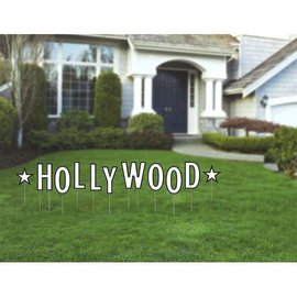 "Hollywood Glitz & Glam Yard Stakes  Contains: 2 Pieces, 10 1/2"" 9 Pieces, 15 3/4"" Plastic Corrugate 9 in a package"