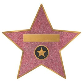 """Hollywood Star Decal Clings 8ct        11 3/10"""" x 12"""" Coated Cardboard w/ Removable Sticker"""