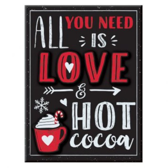 All You Need is Love & Cocoa Easel Sign