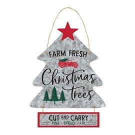 Farm Fresh Christmas Trees Hanging Sign