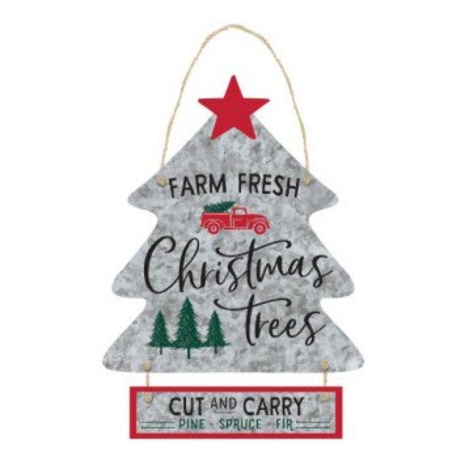 Farm Fresh Christmas Trees.Farm Fresh Christmas Trees Hanging Sign