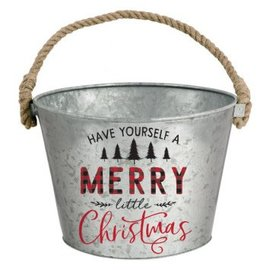 Have Yourself a Merry Little Christmas Galvanized Bucket