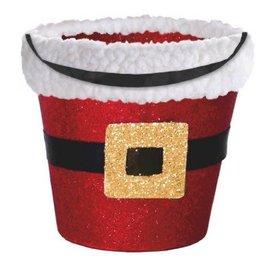 Santa Glitter Bucket w/Cello