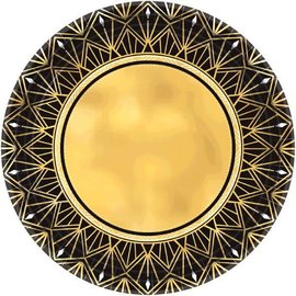 "Hollywood Glitz & Glam Metallic Round Plates, 10 1/2"" 8ct"