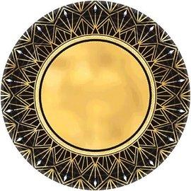 "Hollywood Glitz & Glam Metallic Round Plates, 7"" 8ct"