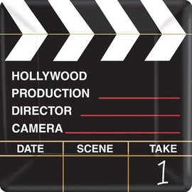 """Hollywood Director's Cut Square Plates, 10"""" 18ct"""