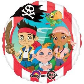 "Jake- Neverland Pirates Balloons, 18"""