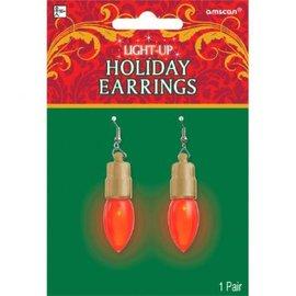 Christmas Earrings Light Up