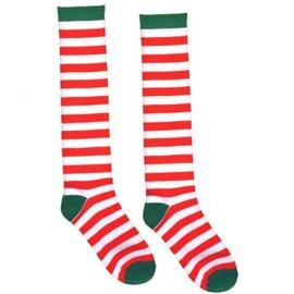Candy Cane Stripe Knee Socks