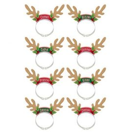 Santa'S Reindeer Pack Headbands-8ct