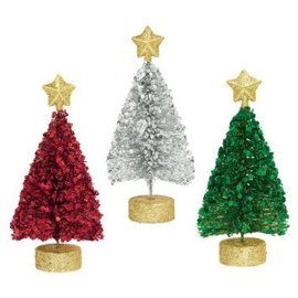 Christmas Tree Centerpieces-3 ct