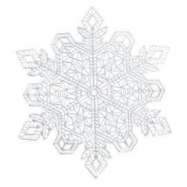 Metallic Silver Snowflake Placemat