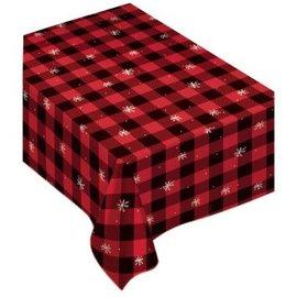 "Buffalo Plaid Table Cover 52"" x 90"""