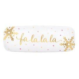 Fa La La La La Plastic Platter, Hot-Stamped