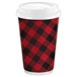 Buffalo Plaid 16oz Hot Cups, Multi-Pack 8ct