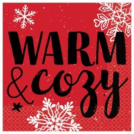 Warm and Cozy Beverage Napkins-16ct