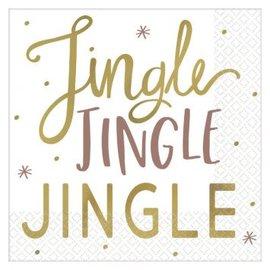 Jingle Jingle Jingle Beverage Napkins, Hot-Stamped-16ct