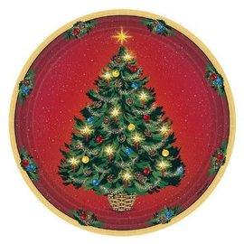 "Warmth Of Christmas Plates, 9""-8ct"
