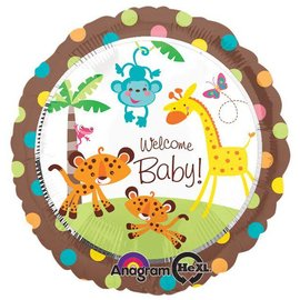 "Welcome Baby Jungle Balloon, 18"" (#5)"