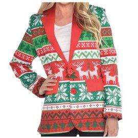 Ugly Sweater Unisex Blazer Adult L-XL