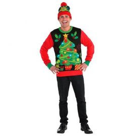 Light Up Ugly Sweater Deluxe - Adult L-XL