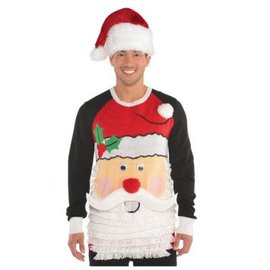Santa Ugly Sweater Deluxe Adult S-M
