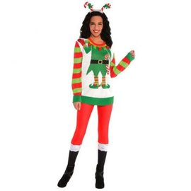 Elf Ugly Sweater Deluxe Unisex- Adult L-XL