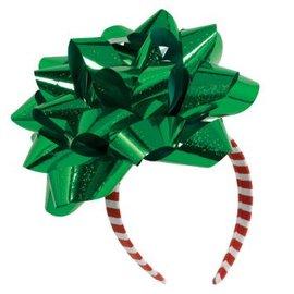Big Christmas Ribbon Gift Bow Headband