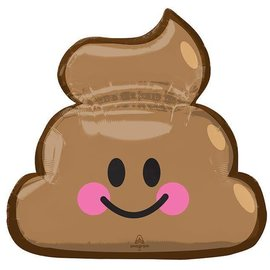 """Poop Emoji Balloon, 25"""" (#53)"""
