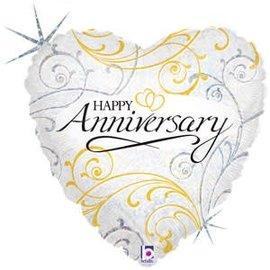"Anniversary Filigree Balloon, 18"""