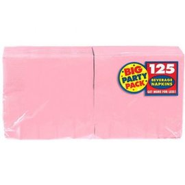 New Pink Big Party Pack Beverage Napkins 125ct