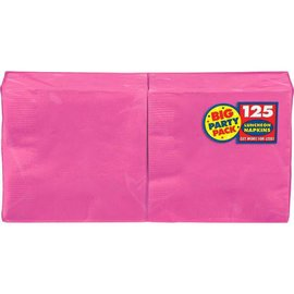 Bright Pink Big Party Pack Luncheon Napkins 125ct