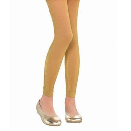 Gold Footless Tights - Child