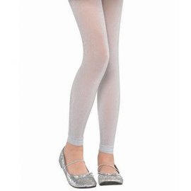 Silver Footless Tights - Child