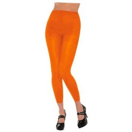 Orange Footless Tights-Adult