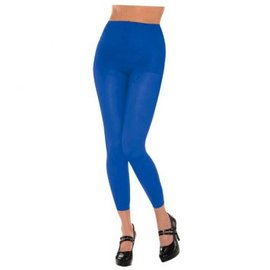Blue Footless Tights-Adult